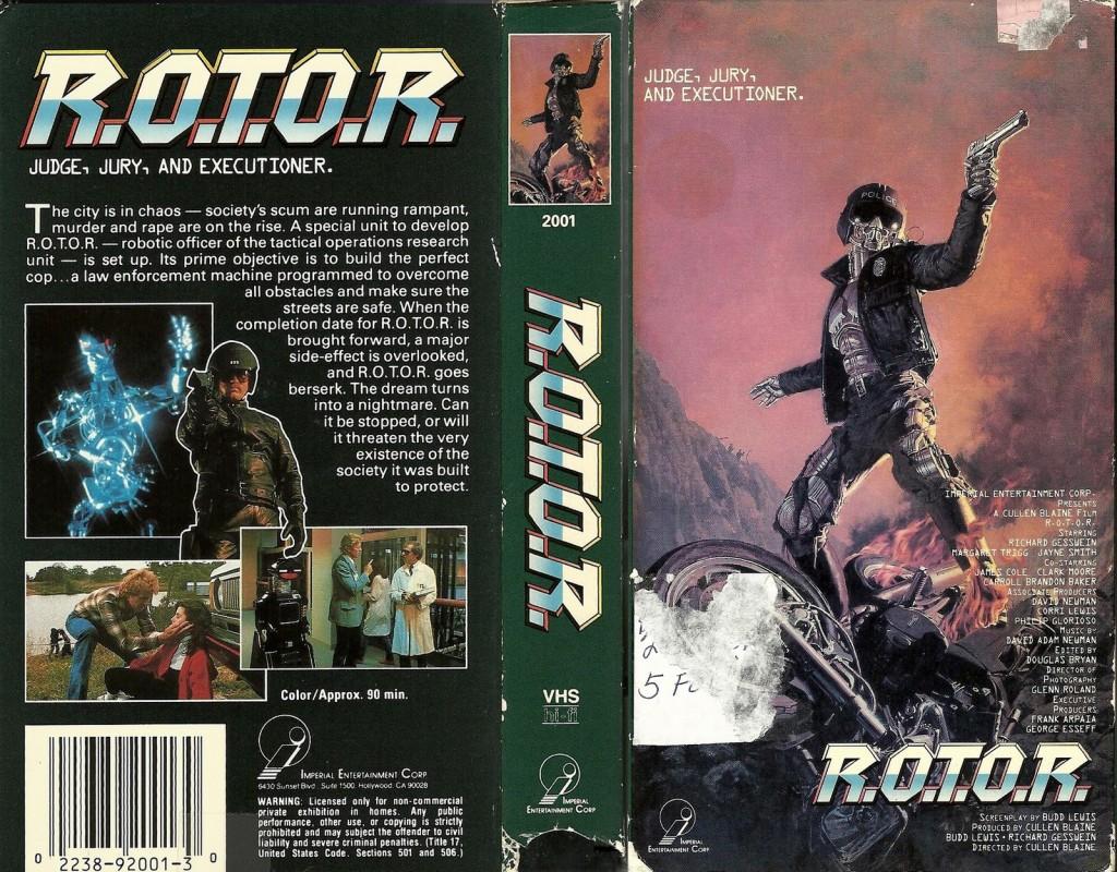 R.O.T.O.R. (1989) - VHS tape