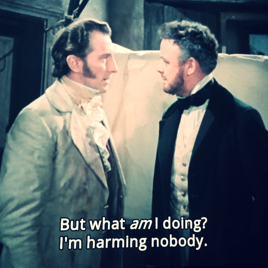 The Curse of Frankenstein (1957) - screen cap 1