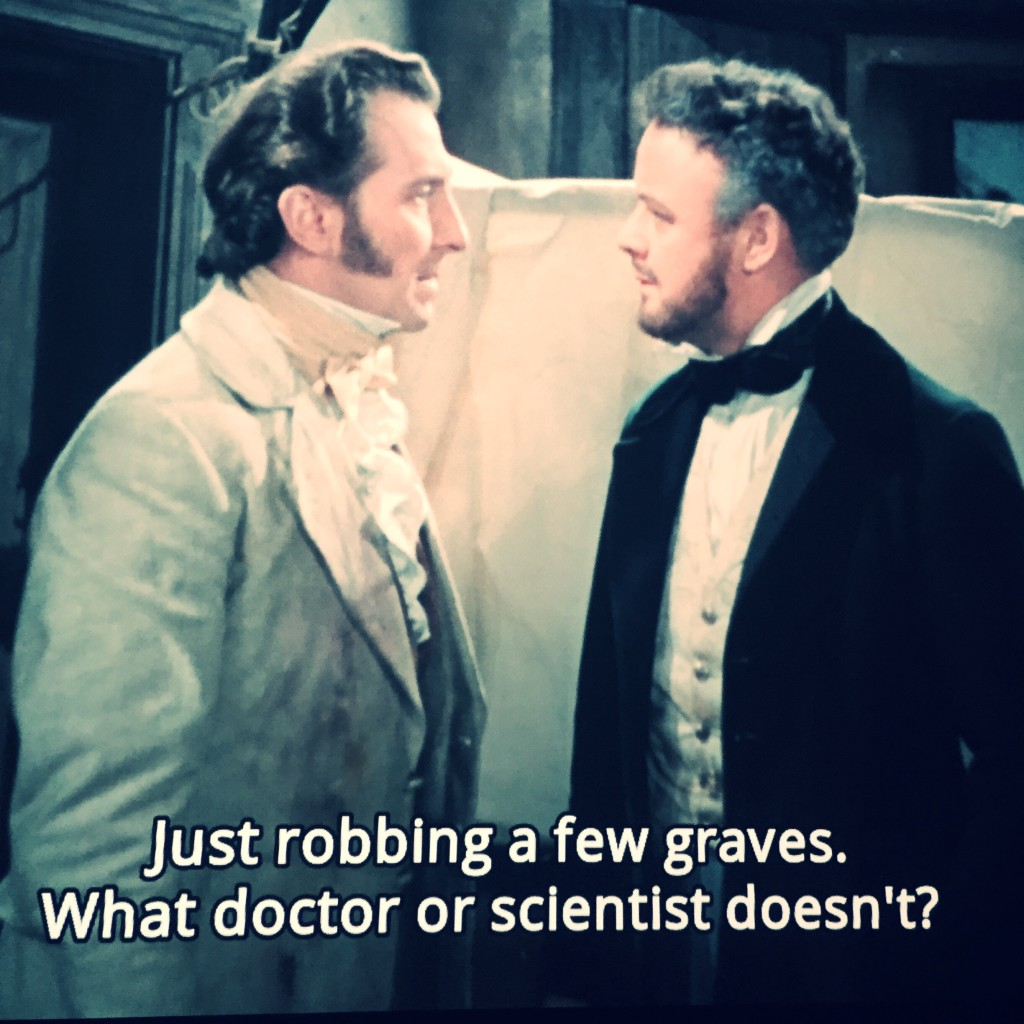 The Curse of Frankenstein (1957) - screen cap 2