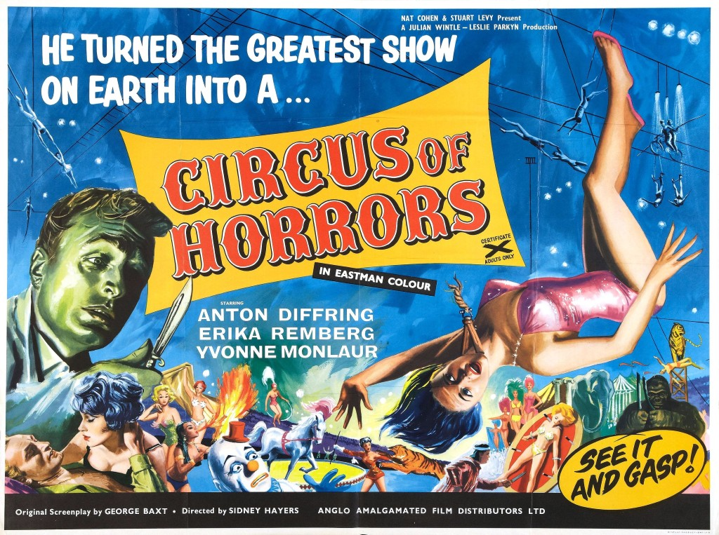 Circus of Horrors (1960) - poster