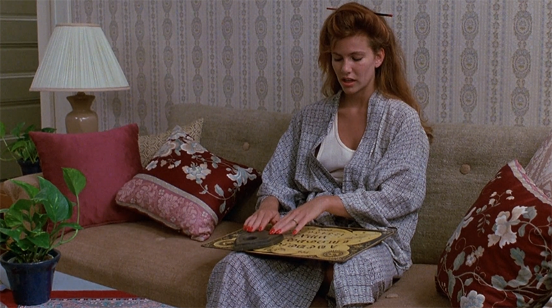 """the complete compendium of Tawny Kitaen's amazing outfits in the 1986 supernatural horror Witchboard"" by BmovieBFFs"