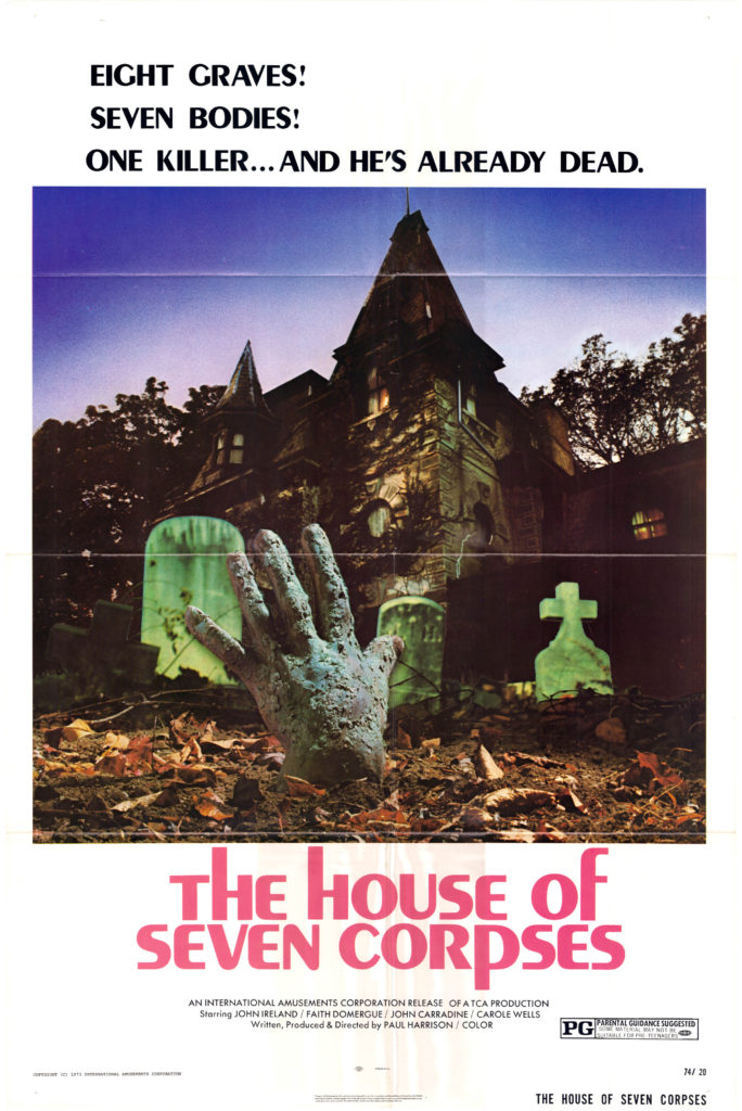 The House of Seven Corpses (1974) - poster