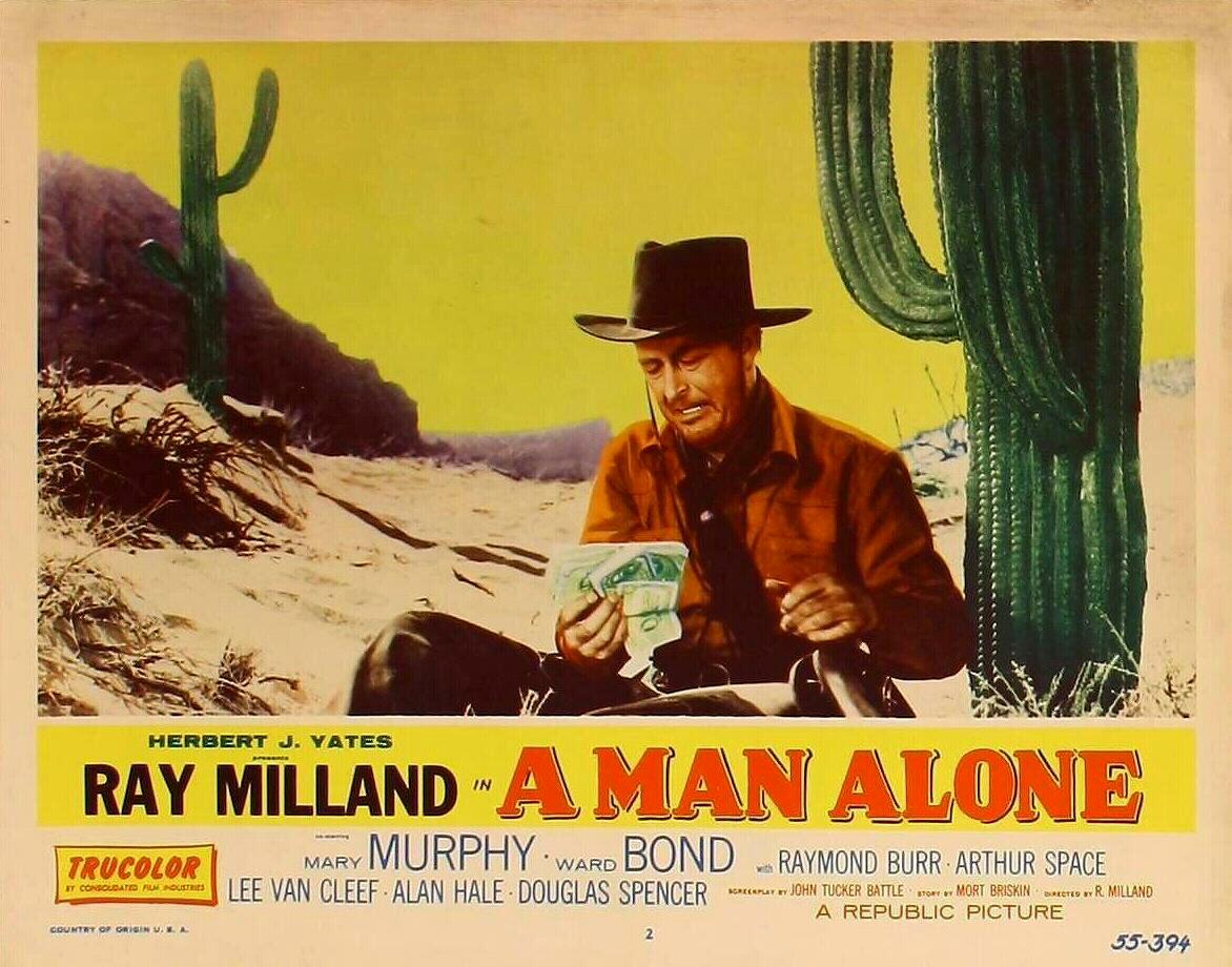 A Man Alone (1955) - poster
