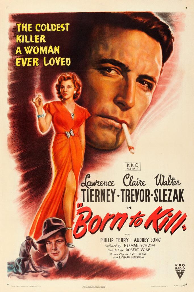 Born to Kill (1947) - poster, BmovieBFFs.com